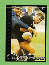 1995 NEW ZEALAND  ALL BLACKS RUGBY UNION CARD  #10  CRAIG  DOWD