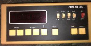 Gralab 500 digital darkroom/ enlarging timer. Tested