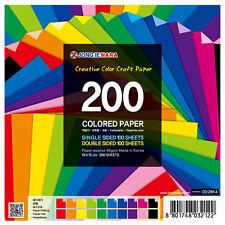 200 fogli origami/Craft Carta Doppio 100 e 100 lato singolo