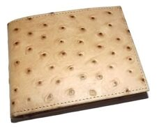 SCULLY MEN'S OSTRICH EMBOSSED LEATHER BIFOLD 8 POCKET WALLET TAN