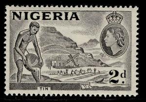 NIGERIA QEII SG72f, 2d grey, LH MINT.