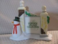 Dept 56 Heritage Village Sign with Snowman