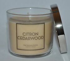 BATH & BODY WORKS CITRON CEDARWOOD SCENTED CANDLE 4 OZ 1 WICK SMALL WHITE BARN