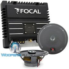"pkg FOCAL 165CA1 CAR AUDIO 6.5"" 2-WAY COAXIAL SPEAKERS + SOLID2 2-CH AMPLIFIER"