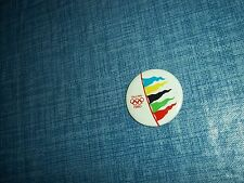"""1980 Moscow Tallinn Sailing Regatta 1 1/2"""" Button Made in the USSR by Norma LL"""
