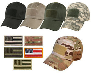 Special Forces Operator Tactical Gear American US Flag Patch Baseball Hat Cap