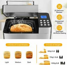 New listing 25-in-1 Bread Machine , 2Lb Stainless Steel Programmable Bread Maker Machine Us