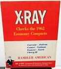1962 AMC XRay Rambler American Economy Compact Vs Other Mfr Cars Sales Brochure