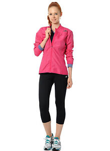 Adidas Supernova Med Pink/Grey Climaproof Reflective Running Women's Jacket GUC