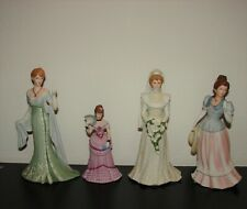Lot of 4 used Gibson Girls, Lenox & Homco Home Interior Porcelain Lady Figurines