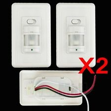 2pcs Auto On/Off Infrared PIR Occupancy Vacancy Motion Sensor Light Lamp Switch