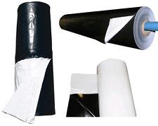 Foglia rotolo polietilene mm 0,2 Bianco-Nero H=MT. 8 X50 L.uso agricolo e varie