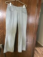 "A283143 Denim & Co. ""How Smooth"" Petite Pull-on L Pocket Bootcut Trousers 8P"