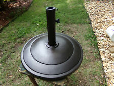Round Cast Iron Patio Deck Umbrella Base Powdered Coated( Brown OR Black ) NEW