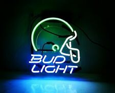 New Bud Helmet Neon Light Sign Lamp Beer Pub Acrylic 14""