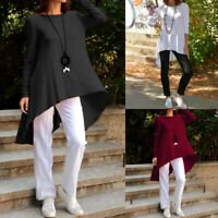 Ladies Women Long Sleeve Baggy Dress Blouse Party Top Jersey Tunic Shirt UK 8-26
