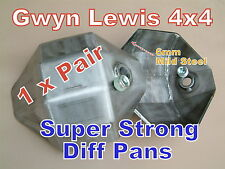 2 x Land Rover Defender Discovery Range Rover Diff Pan Heavy Duty 6mm ARB