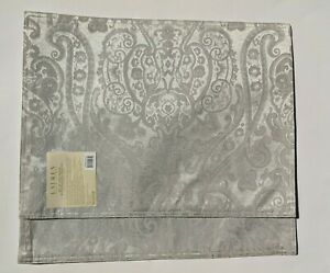 "Set of 2 Ralph Lauren Paisley Silver Placemats 14"" x 19"" NEW"