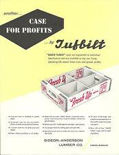 7 UP Wood Case Vintage Advertising Flyer Gideon-Anderson Lumber Co. Gideon, Mo.