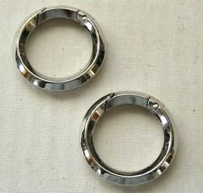 "2 Spring Gate Round D Rings 1"" Nickel Plated Replacement Bag Hardware"