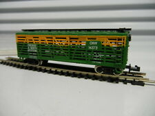 LIFE-LIKE Chicago & North Western Cattle Car Green New S790C Steel Wheels