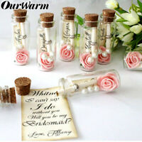 12Pcs Clear Mini Small Cork Stopper Tiny Glass Vial Jars Bottle Wedding Favors