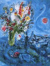 La Dormeuse aux Fleurs, Limited Edition Offset Lithograph, Marc Chagall