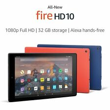 All New Fire HD 10 Tablet With Alexa Hands Free 10.1in 1080p 32GB Punch Red