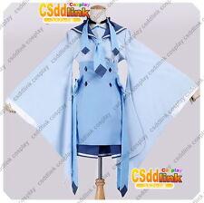 Glaceon Kimono Pokemon Cosplay Costume blue