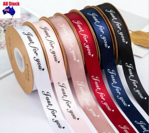"""25MM """"Just for you"""" Printed 1/2/4/5M Polyester Party Xmas Gift wrapping Ribbon"""