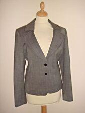 Wool Blend V-Neckline Patternless Coats & Jackets for Women