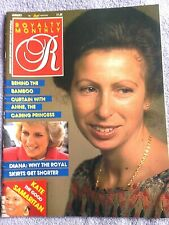Royalty Magazine Volume 7 No 4. January 1988. Princess Anne, Diana Etc