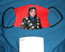 ❤ New! Michael Jackson Custom Face Mask with Filter Pocket and 2 Filters! ❤