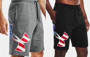 Under Armour Men's UA Freedom Rival Big Flag Logo Casual Workout Fitness Shorts