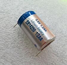 1 x New Tabbed 3.6V 1.2Ah ER14250 LI-SOCl2 1/2AA Battery Non-rechargeable 2 Tabs