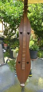 """Vintage Appalachian Dulcimer Hand Made Handcrafted 3 String 35"""" Wood Instrument"""