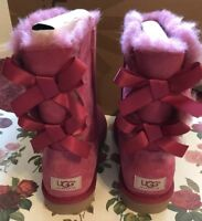 UGG Australia Bailey Bow Boots Dusty Rose Women's Size 7