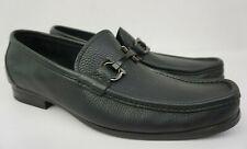 Salvatore Ferragamo Grandioso Bit Men's Black Leather Loafers Shoes Size 10.5 D