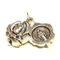 Miraculous Medal -Rose Locket - Catholic Exorcism - Blessed By Pope - Pendant