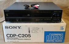 New listing Sony Cdp-C205 - 5 Disc Cd Carousel Changer Player Component - W/ Box + Cables