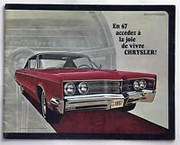 1967 Chrysler New Yorker 300 Newport Canadian Sales Brochure French Text