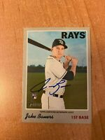 2019 Topps Heritage - Jake Bauers - Real Ones On Card Rookie Auto RC