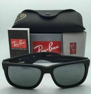 Ray-Ban Sunglasses RB4165 Justin 622/6G 54MM Matte Black/Silver Mirror NEW US