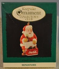 Hallmark Keepsake - Cool Santa CocaCola - Collector Club Miniature - Ornament