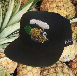 Rare Marijuana Strain Pineapple Express Thomas Train Suede Brim Snapback Hat