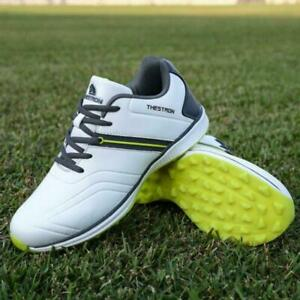 Men's Golf Shoes Genuine Leather Waterproof Business Golf Sneaker Casual A7D7