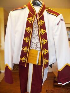 Marching Band Uniform Red White & Yellow Bolero Jacket Queen Freddy Mercury type