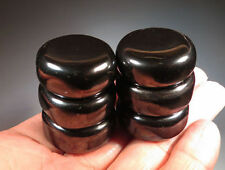Set of 6 HEMATITE Magnetic Crystal Tumbled strong magnet - Healing Reiki