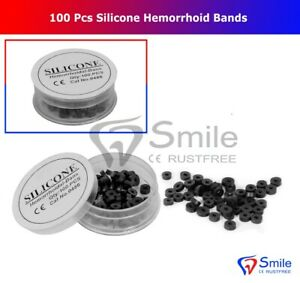 100 PCS German Silicone Hemorrhoid Bands For Rubber Band Ligation Free Shipping