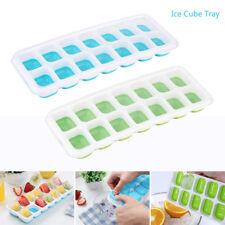 4er Set Eiswürfelbehälter mit Deckel Eiswürfelform Eiswürfelbereiter Silikon